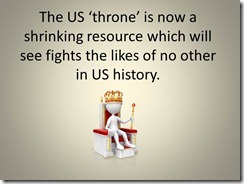 The US 'throne' is now a