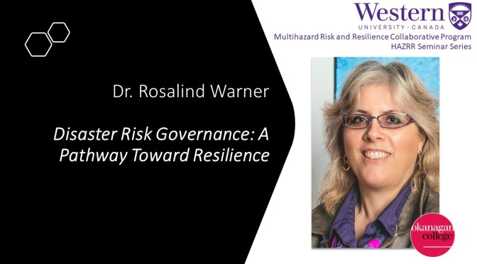 Disaster Risk Governance: A pathway toward resilience